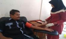 Wujud Soliditas Sesama, Puluhan Wartawan PWI Pariaman Gelar Aksi Donor Darah