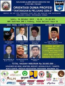 OSIS SMAN 1 Padang dan Alumni 93 Gelar Acara bertajuk : Tantangan dan Peluang Gen-Z