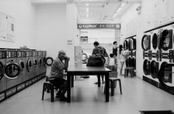 Walked past a rather spacious laundromat in Chinatown (which isn't very common) and found it interesting.