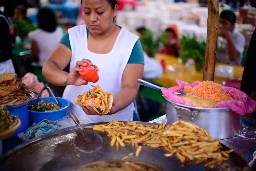 Los Tacos Placeros elemento de identidad gastronmica de