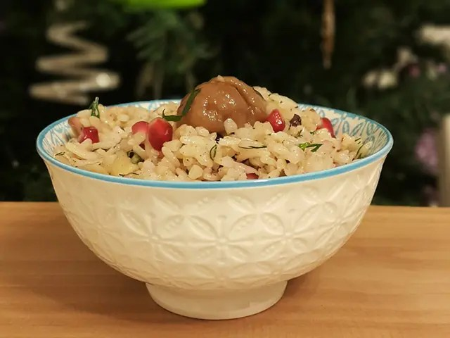 Narlı Kestaneli Pirinç Pilavı