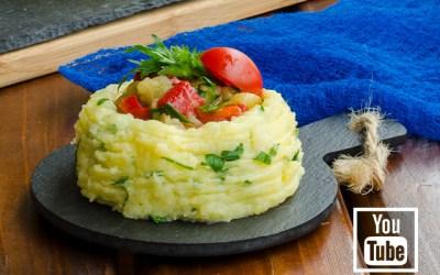 Patates Çanağında Patlıcan Salatası