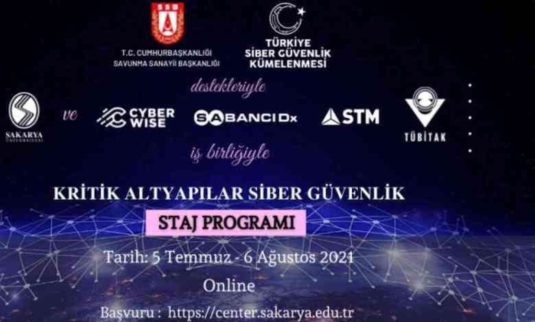 Sakarya Üniversitesinden Kritik Altapılar Siber Güvenlik Staj Programı