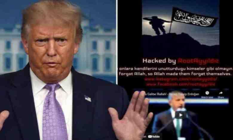 Türk hacker, Trump'ın web sitesini ele geçirdi