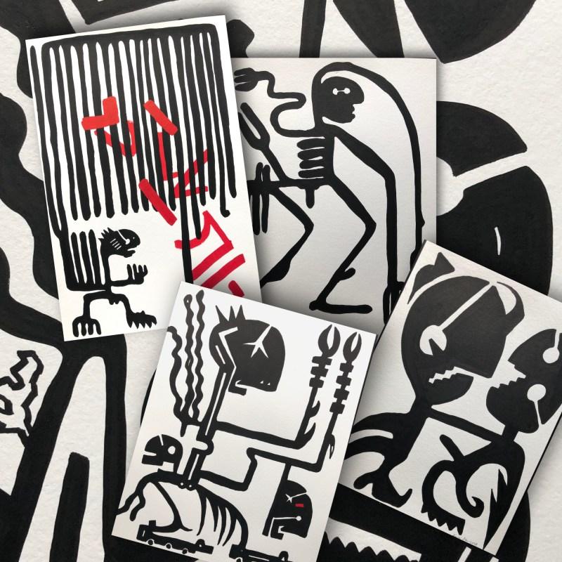 Artist Einar Örn new works into gallery