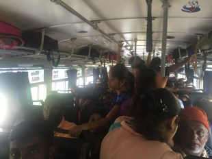 Packed out bus from Galle