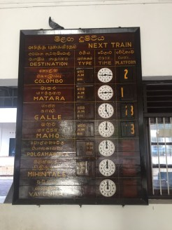 Someone manually comes along and moves the times and platform numbers