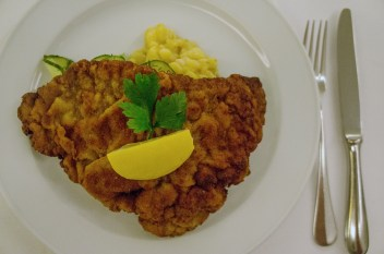Schnitzel. Photo by Simon Wilder