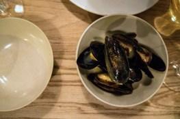 Pre-menu mussels at Lyle's.