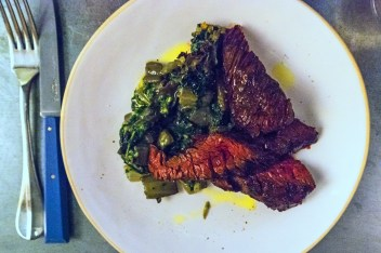 Onglet, chard. Photo by Simon Wilder