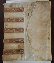 16th century ledger book (Archives of Seminary of Barbarigo)