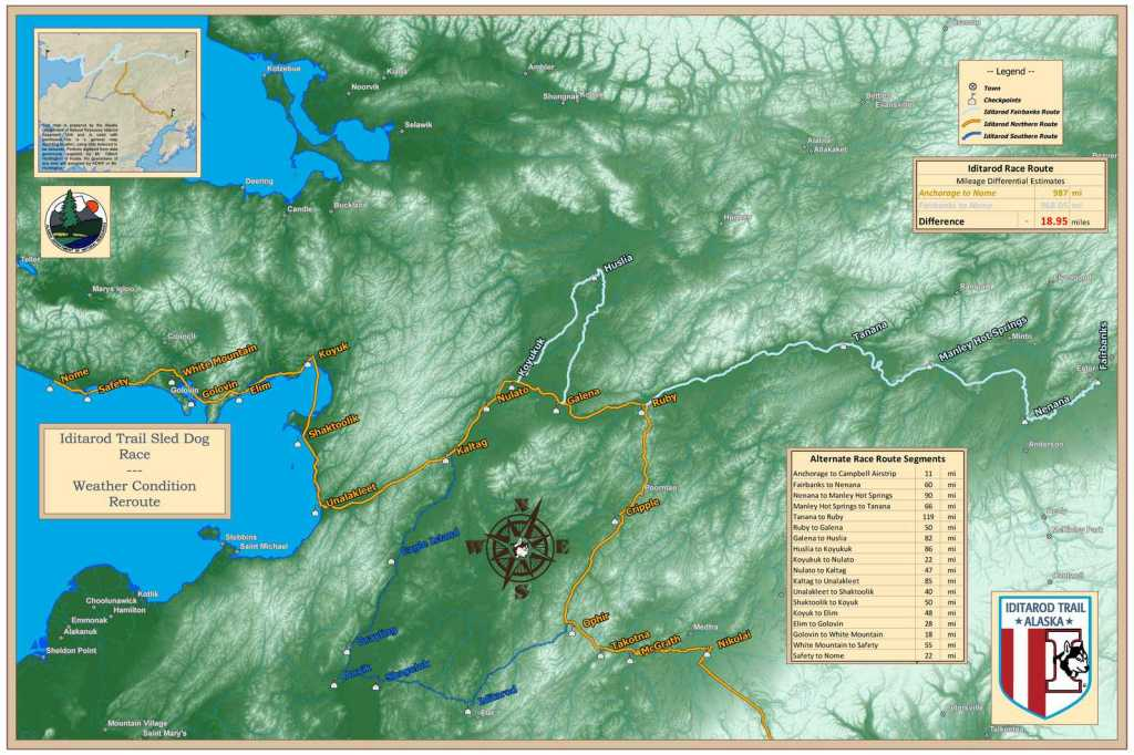 2015 Race Route Map, Iditarod Trail Committee