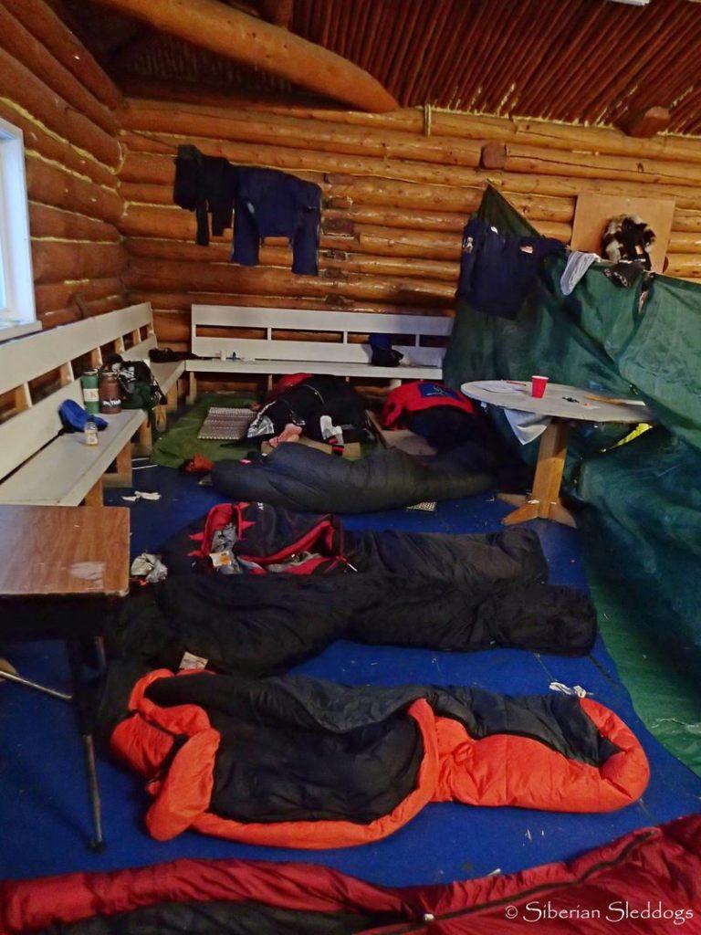Checkpoint Ruby, Musher sleeping area. Photo Siberian Sleddogs