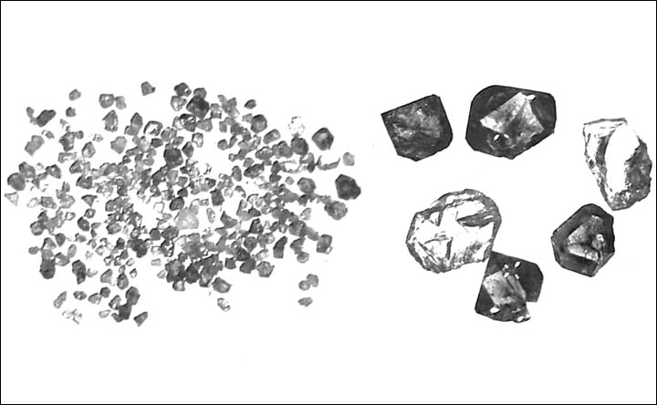 Russia reveals 'unique diamonds' created by gases and