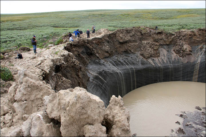 Startling changes revealed in mystery craters in northern Siberia