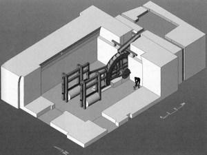 реконструкция мраморопильной мельницы в Герасе
