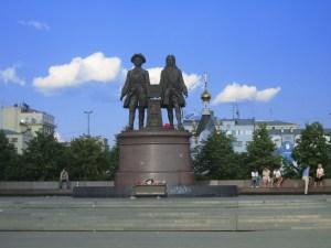 Памятник Татищеву и де Геннину г Екатеринбург