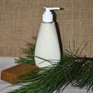 Кедровое жидкое мыло ручной работы