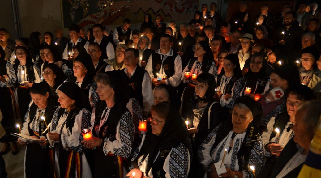 Easter mass in Transylvania