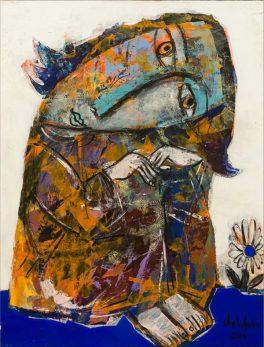 Живопись Олега Шелудякова в галерее Jazzium. Фото Александра Симушкина