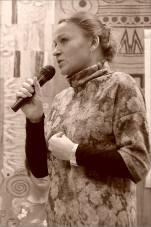 Лада Юрченко. Открытая дискуссия: «Судьба новаторского искусства в Новосибирске». Фото Александра Симушкина