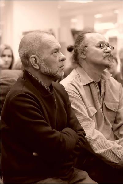 Открытая дискуссия: «Судьба новаторского искусства в Новосибирске». Фото Александра Симушкина