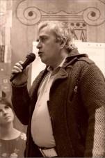 Михаил Моисеев. Открытая дискуссия: «Судьба новаторского искусства в Новосибирске». Фото Александра Симушкина