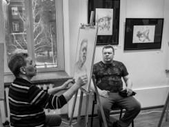 Портретная дуэль: Владимир Хананов - Константин Скотников. Фото Алексея Школдина