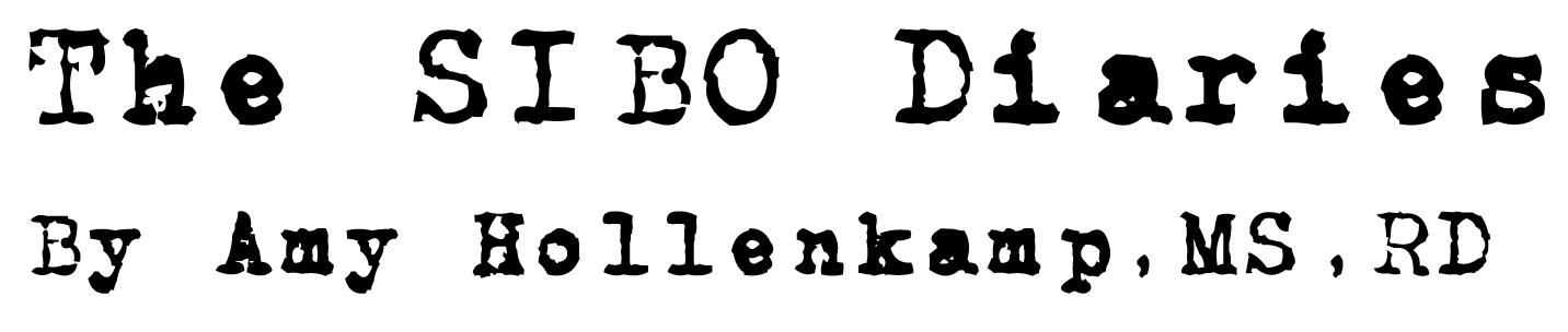 The SIBO Diaries