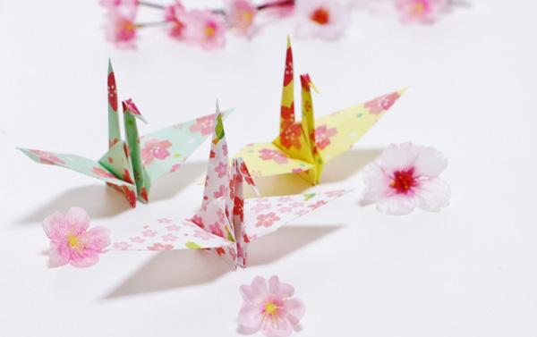 折り鶴花びら