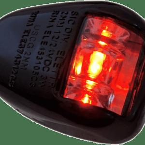 Fanale di via orionis a 112,5° sinistro (port) rosso - nero led - Automotive Tail & Brake Light