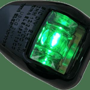 Fanale di via orionis a 112,5° destro (starboard) verde - nero led - Emerald