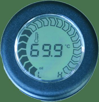 Strumento indicatore temperatura olio 60-130°c ,tipo faria ts2029  (riprogrammabile) - Gauge