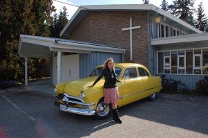 Juanita and the 1949 Shoebox Ford - `Honeybee'