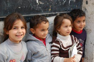 Palestinian children in Jayyous