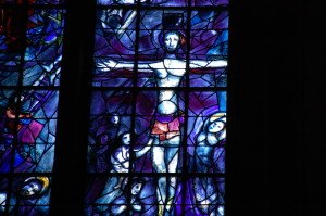 Marc Chagall window at Rheims cathedral, France