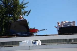 rolling out the new roof