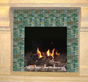 fireplace lowdown try glass tiles for a fireplace surround that sparkles