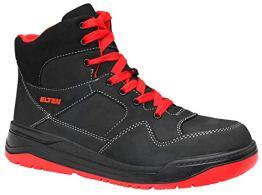 ELTEN Sicherheitsschuhe MAVERICK black-red Mid ESD S3, Herren, sportlich, Sneaker