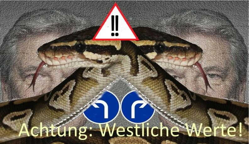 Doppelschlange gauck standards westliche werte