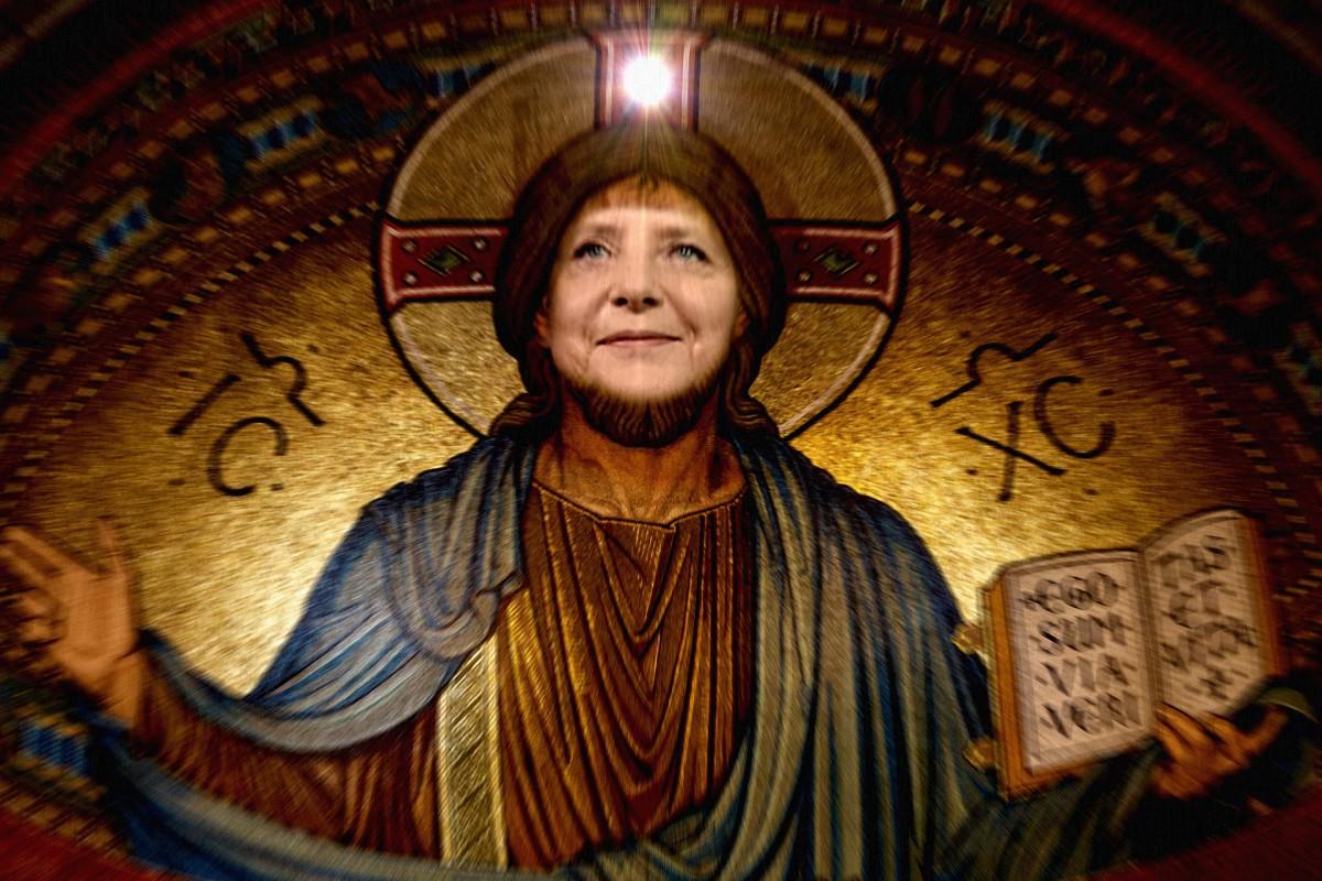 Merkel Jesus 2