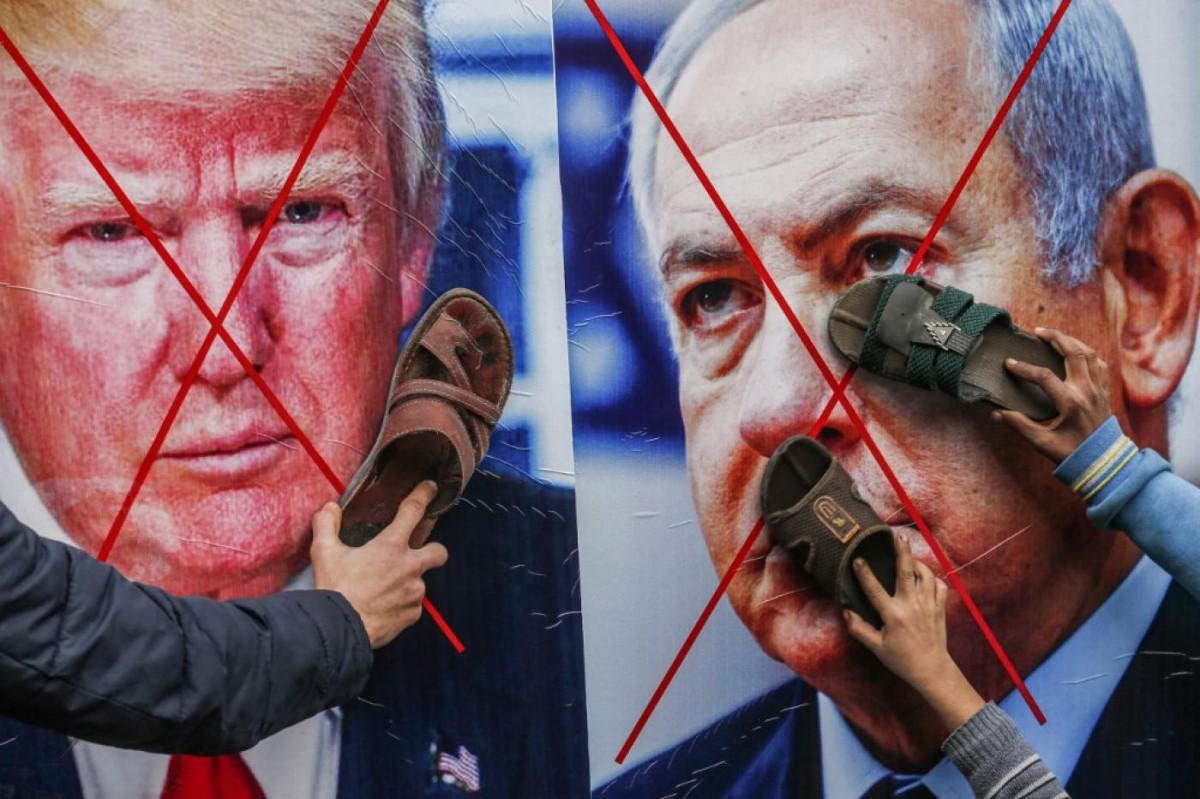 trump_netanyahu_protest_2020_afp