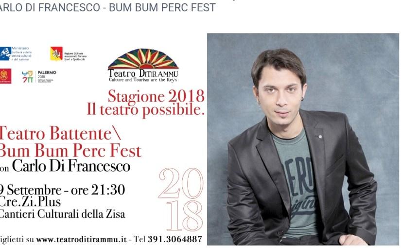 Gli appuntamenti di Siciliando: al teatro Ditirammu il musicista e compositore Carlo Di Francesco