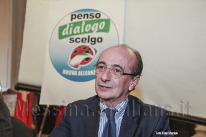 Peppino Buzzanca, ex Sindaco di Messina in conferenza stampa per le amministrative 2013