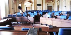 L'Aula Consiliare di Palazzo del Carmine, sede del Consiglio comunale