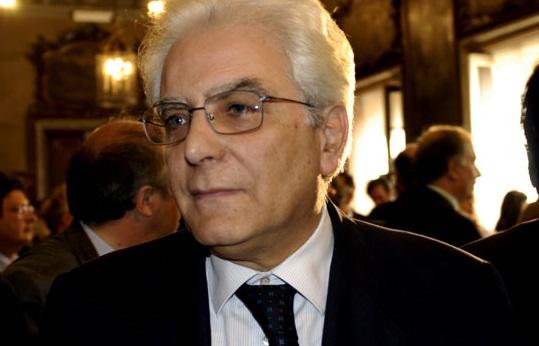 Il presidente dlla Repubblica Sergio Mattarella