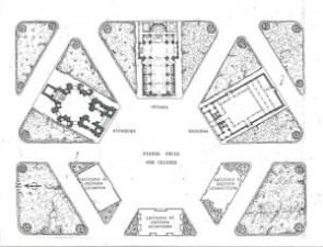 Planimetria della Piazza delle tre culture