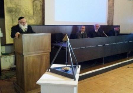 Il rabbino di Siracusa Stefano Di Mauro, che ha definito speciale il momento dell'incontro