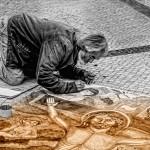 artista di strada madonnaro