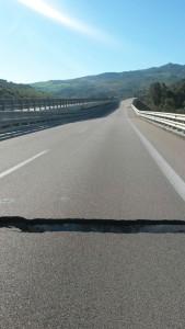 Il cedimento del viadotto Himera sulla Palermo-Catania